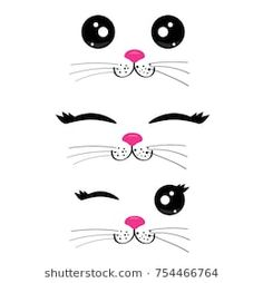 Ideas Funny Cat Birthday Party Ideas - Katzen - Ideas Funny Cat Birthday Party Ideas, PartyIdeas You are in the righ - Funny Cat Faces, Cartoon Faces, Funny Cats, Cartoon Panda, Panda Panda, Kawaii Faces, Cute Kawaii Drawings, Kitty Party, Cat Birthday