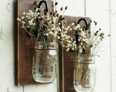 NEW...Set of 2 Hanging Mason Jar Candle by cottagehomedecor