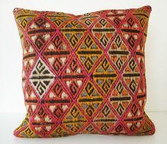 Sukan / Hand Woven - Turkish Antique Kilim Pillow Cover - 18x18. $750.00, via Etsy.
