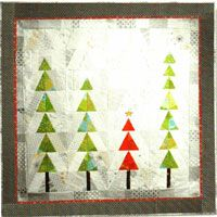 "Pick Me Quilt Pattern by Quilt Queen Designs at KayeWood.com. A little winter for the holidays. Simple and refreshing as a Christmas Tree. 40 1/2"" x 40 1/2"" http://www.kayewood.com/item/Pick_Me_Quilt_Pattern/3819 $8.95"