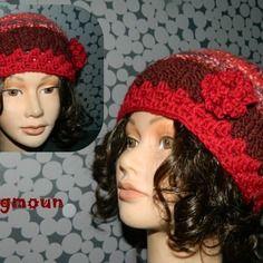 Bonnet femme original création en laine création unique et originale  zagmoun Bonnet Femme, Laine, 3e850ea7c26