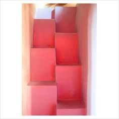 awesome pink staircase
