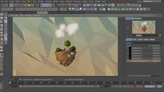 'Low poly' theory from Sam Welker | In this video I talk about creating the popular low poly look in Cinema 4D.