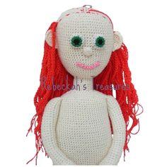 WIP Crochet Amigurumi Dolly by Rebeckah's Treasures