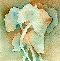 watercolor negative painting -