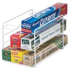 Amazon.com: Schulte Kitchen Wrap Organizer, White:
