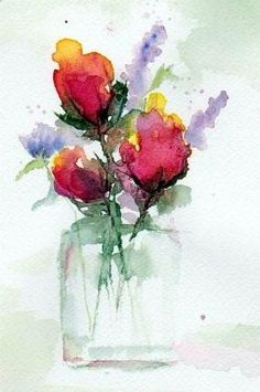 Watercolour flowers #watercolorarts