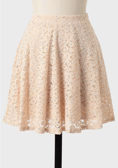 Spring Glow Embroidered Skirt at #Ruche @mimi ヾ(^∇^)