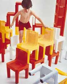 1964: Children's  chair K1340 (later K 4999) by Marco Zanuso and Richard Sapper #plastic #kartellbook