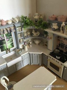 Кухни в миниатюре 1:12 / Румбоксы. Кукольная миниатюра / Бэйбики. Куклы фото. Одежда для кукол