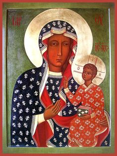"""Icon of the Mother of God """"Czestochowa"""" - Orthodox Church in America Images Of Christ, Religious Images, Religious Icons, Religious Art, Madonna Art, Madonna And Child, I Love You Mother, Mother Mary, Byzantine Icons"""