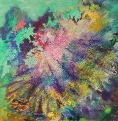 """""""New Beginnings."""" Great Barrier Reef acrylic art by Lyn Olsen http://www.lynolsen.com/"""
