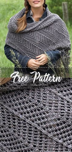 Newest Absolutely Free Crochet shawl and wraps Tips Crochet Wrap Pattern, Crochet Shawl Free, Crochet Shawls And Wraps, Knitted Shawls, Crochet Scarves, Crochet Clothes, Easy Crochet, Free Knitting, Knitting Patterns