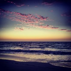 Stunning sunset at Mullaloo beach on my first night in Perth, Australia! Australia Photos, Perth Australia, Western Australia, Best Sunset, Sunset Beach, Sky And Clouds, Sunrises, First Night, Twilight