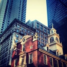 The Old State House, 3 or 4 blocks from the current State House on Beacon Hill.