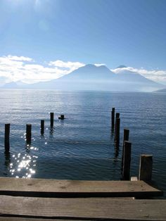 The most beautiful place in the world, Lake Atitlan in Guatemala. Gorgeous lake surrounded by volcanoes and tiny villages. Panajachel is the perfect vacation spot!