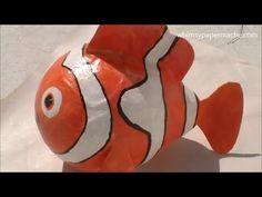 How to Make a Paper Mache Nemo Clown Fish comment fabriquer à partir du papier macher le poisson Némo clown.