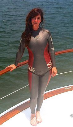Woman in wetsuits have sex