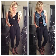 Image result for how to wear a black jumpsuit
