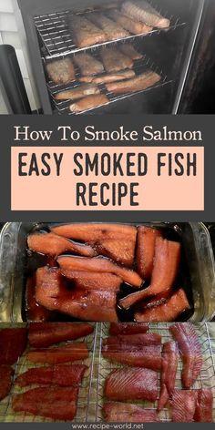 How To Smoke Salmon - Easy Smoked Fish Recipe - Food - Fish Recipes Smoked Salmon Brine, Smoked Cod, Smoked Salmon Recipes, Smoked Fish Brine Recipe, Smoked Halibut, Smoked Trout, Grill Fish Recipe, Smoked Tuna, Grilling Recipes