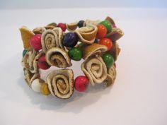 Orange Peel Flowers Handmade Bracelet by WEARFRUITS on Etsy