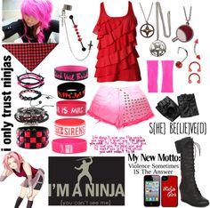 """My Version of Sakura Haruno"" by rukiakuchiki12341 ❤ liked on Polyvore"