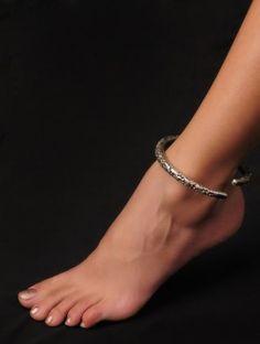 Floral Sterling Silver Anklet (Adjustable)