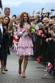 Day two, and Kate's already nailing her tour style. - Provided by PopSugar
