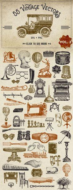 Vintage Vector Graphics Vol. 3