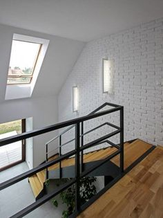 realizacja 1 - zdjęcie 14 Indoor Railing, Comfy Cozy Home, Stair Handrail, Building A Fence, Loft House, Interior Stairs, Staircase Design, Simple House, Stairways