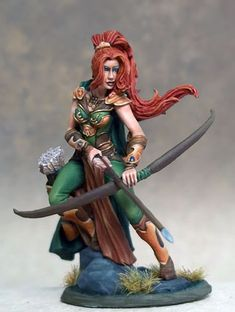 Female Ranger with Bow www.coolminiornot.com/shop/visions-in-fantasy-female-ranger-with-bow.html