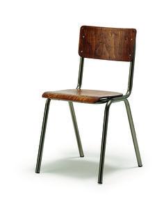 RIG C 2450 - Καρέκλα  με μεταλλικό σκελετό και ξύλο ( δυνατότητα επιλογής χρώματος ) - justshop.gr