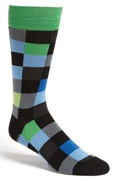 BUGATCHI Check Socks   Nordstrom Funky Socks, Colorful Socks, Work Socks, Men's Socks, Fashion Socks, Mens Fashion, Suit Shoes, Dapper Men, Happy Socks