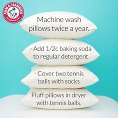 washing pillows...