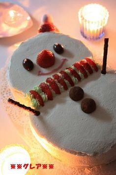 Christmas cake  #snowman #sweet #food #cake #dessert #christmas #xmas
