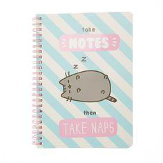 Pusheen Take Notes Then Take Naps Notebook