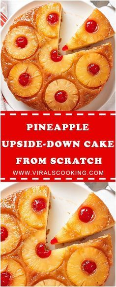 To Make Easy Pineapple Upside-Down Cake from Scratch #recipe #Food #Drink #perfect #howtomake #Easy #slowcooker #whole30 #foodlover #homecooking #cooking #cookingtips