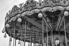 Paris carousel art black and white photography. Merry go round carnival print for your bedroom or living room decor.  ★ Available in black & white or sepia ★  TITLE: Paris Carousel MEDIUM: Fine art print (unframed) SIZES: Please choose from drop-down menu. •Choices are 5x7, 8x10, 11x14, 12x16, 16x20, 20x24 •If you are looking for a size not listed please message me. (message me if you would like a different size than those listed http://etsy.me/1QXne3D)   PRINT DETAILS: This listing is for…