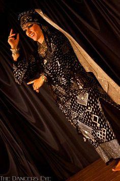 Amel Tafsout in beautiful assiut robe.