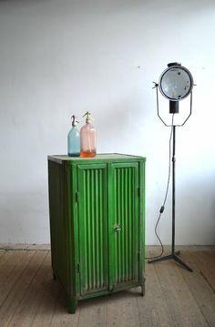 Bright green iron cabinet |artKRAFT - Furniture and Design Bright Green, Cabinets, Iron, Storage, Furniture, Design, Home Decor, Armoires, Purse Storage