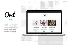 Owl - WordPress Theme for Blogging by gbobbd on Creative Market