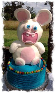 Rabbids Invasion first birthday cake