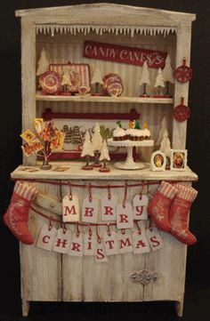 Christmas Altered Cabinet