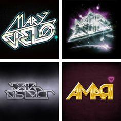 80's Style Logos