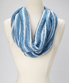 Take a look at this Chambray Loose Stripe Infinity Scarf by Collection 18 on #zulily today!