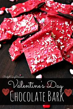 MUST Pin for Valentine's Day - Valentine's Day Chocolate Bark Recipe
