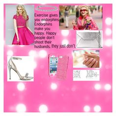 """""""Elle Woods"""" by mollygolly811 on Polyvore featuring Sherri Hill, MICHAEL Michael Kors, Vera Bradley, Blue Nile and GUESS"""