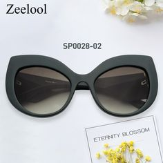 a414fdaac0b Tania Cateye Dark Green Sunglasses SP0028-02. Zeelool Optical