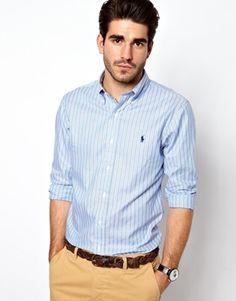 ✭Polo Ralph Lauren Shirt in Oxford Stripe ✭