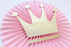 Pink and Gold Party Backdrop - Pink and Gold Baby Shower - Pink and Gold First Birthday - Pink and Gold Party - Princess Birthday Backdrop Princess First Birthday, Pink First Birthday, Princess Theme, Baby Shower Princess, Princess Party Decorations, First Birthday Decorations, Birthday Backdrop, Birthday Crafts, Paper Rosettes
